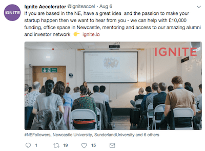 North East entrepreneurs sought for new Ignite Accelerator in Newcastle